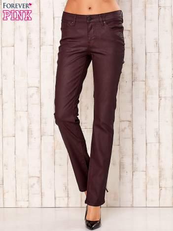 Bordowe spodnie regular
