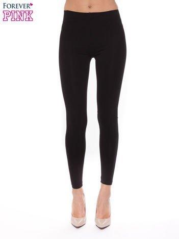 Czarna bawełniane legginsy