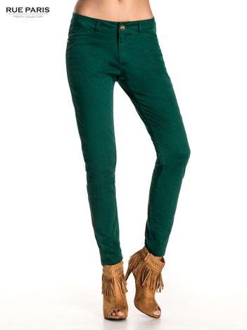 Zielone spodnie materiałowe w stylu chinos