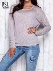 Beżowa melanżowa bluzka z kieszonką z przodu
