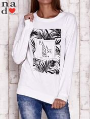 Biała bluza z napisem PARADISE