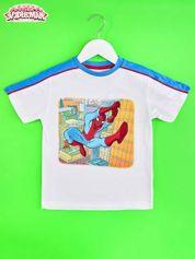 Biały t-shirt chłopięcy SPIDERMAN