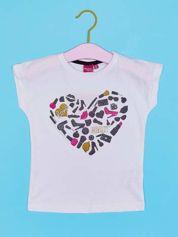 Biały t-shirt dla dziewczynki z napisem LOVE CRAZY