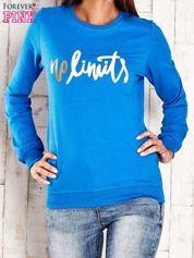 Ciemnoniebieska bluza z napisem NO LIMITS