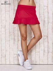 Ciemnoróżowe spodenki spódniczka tenisowa z falbanką