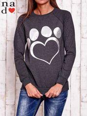 Ciemnoszara bluza z wzorem serca