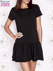 Czarna dresowa sukienka z wycięciem na plecach