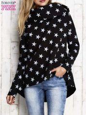 Czarna ocieplana bluza w gwiazdki