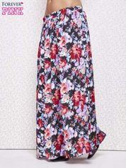 Czarna spódnica maxi w kwiaty