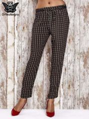 Czarne lejące wzorzyste spodnie
