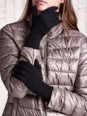 Czarne rękawiczki z długim ściągaczem