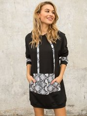 Czarno-szara sukienka Sierra