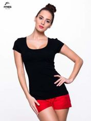 Czarny prosty t-shirt For Fitness