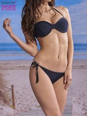 Czarny stanik od bikini wiązany na szyi