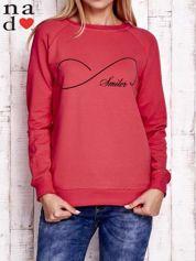 Czerwona bluza z napisem SMILER