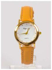 Damski zegarek z cyrkoniami na tarczy. Bardzo zgrabny. Delikatny i kobiecy.