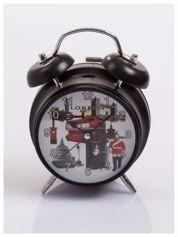 Elegancki i skuteczny :) BUDZIK zegarek stojący z lampką z motywem LONDON