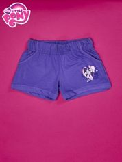 Fioletowe szorty dla dziewczynki z różowym nadrukiem MY LITTLE PONY