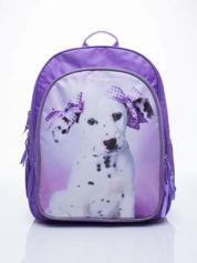 Fioletowy plecak szkolny DISNEY z dalmatyńczykiem