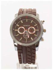 GENEVA Brązowy zegarek męski MILITARY