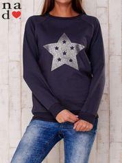 Grafitowa bluza z nadrukiem gwiazdy