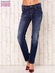 Granatowe spodnie jeansowe regular