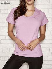 Jasnofioletowy t-shirt damski sportowy PLUS SIZE