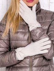 Kremowe rękawiczki z kokardą w stylu retro