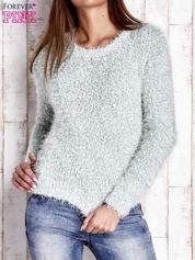 Miętowy sweter fluffy