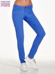 Forever Pink Niebieskie spodnie jeansowe rurki