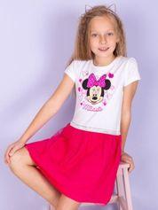 Różowa sukienka bez rękawów dla dziewczynki MINNIE MOUSE