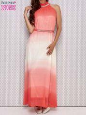 Różowa sukienka maxi z wiązaniem na plecach