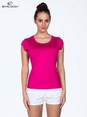 Butik Różowy t-shirt sportowy termoaktywny