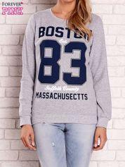 Szara bluza z napisem BOSTON 83