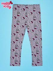 Szare legginsy dla dziewczynki z nadrukiem HELLO KITTY