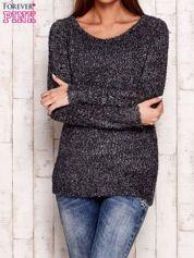 Szary sweter fluffy z cekinami