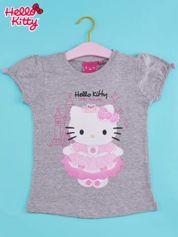 Szary t-shirt dla dziewczynki HELLO KITTY
