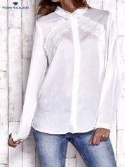TOM TAILOR Ecru koszula z koronkową wstawką