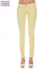 Forever Pink Żółte spodnie jeansowe typu rurki