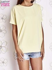 Żółty t-shirt oversize