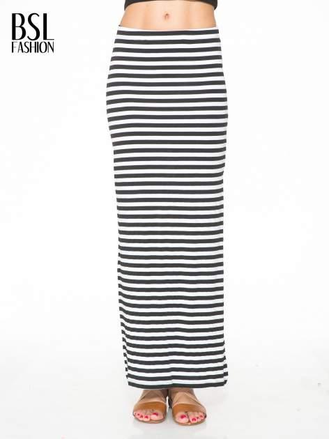 Biało-czarna spódnica maxi w paski