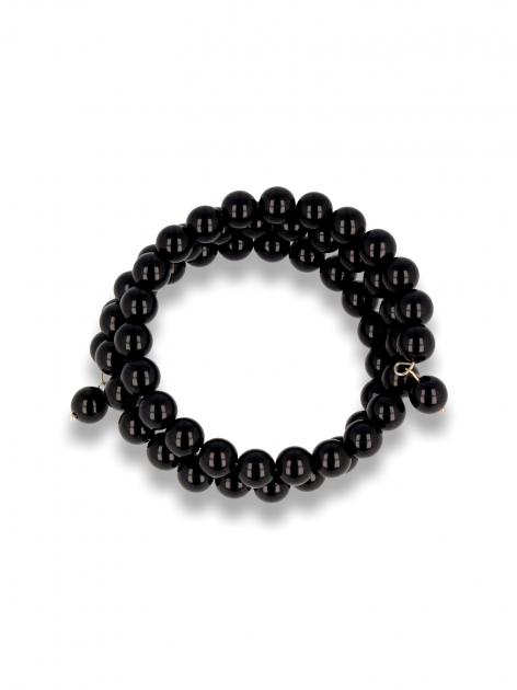 Czarna Bransoletka koralikowa