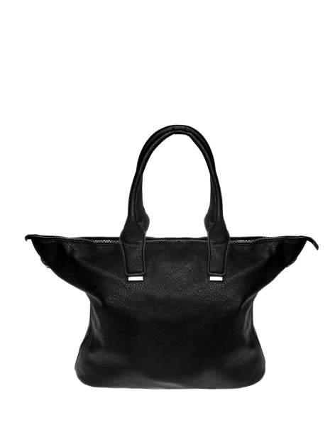 Czarna torba shopper bag ze złotymi detalami