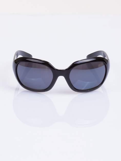 """Czarne klasyczne damskie okulary """"muchy"""""""