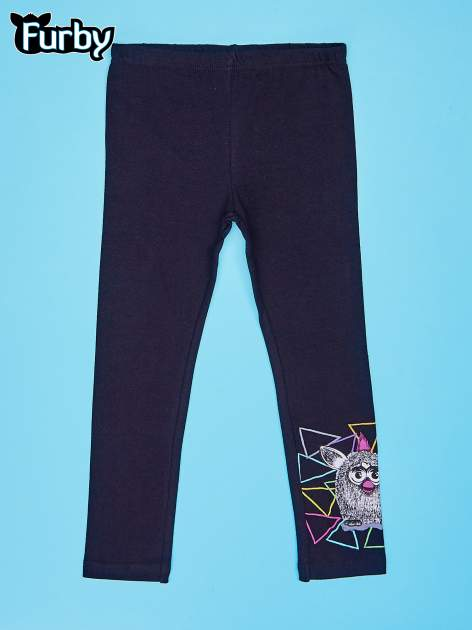 Czarne legginsy dla dziewczynki z motywem FURBY