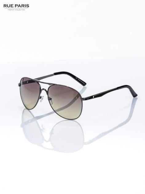 Czarne okulary przeciwsłoneczne pilotki AVIATOR