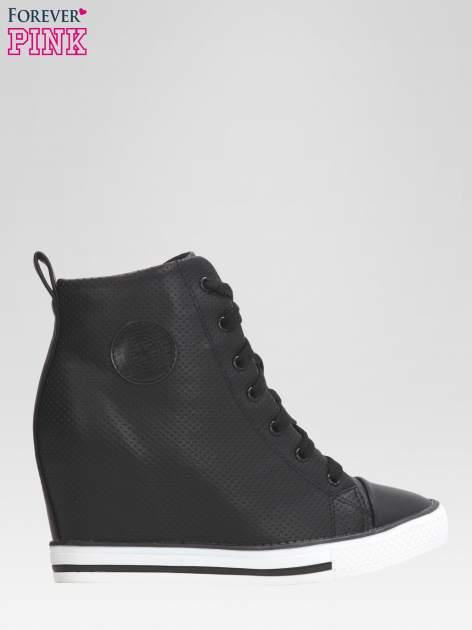 Czarne sneakersy damskie z siateczką