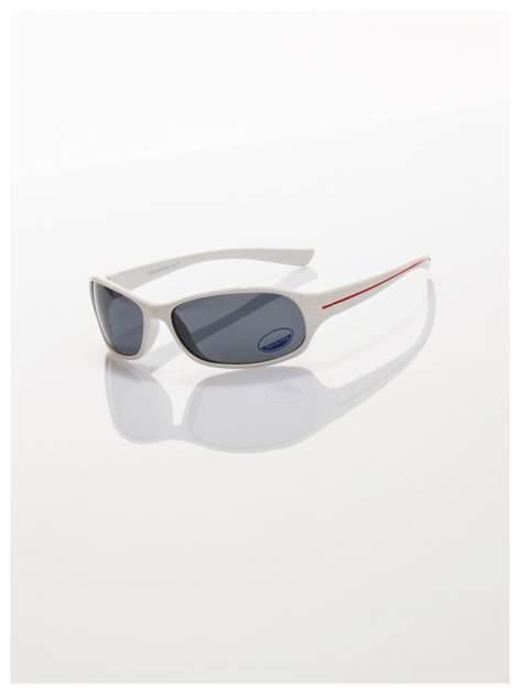 Dziecięce białe okulary przeciwsłoneczne z filtrami