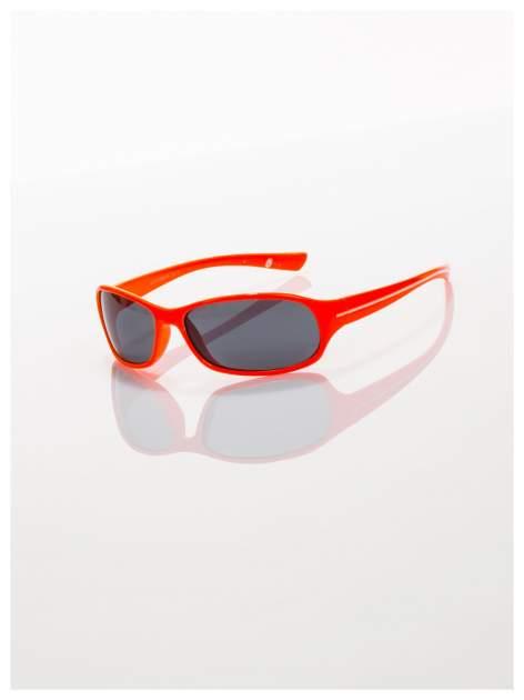 Dziecięce pomarańczowe okulary z filtrami