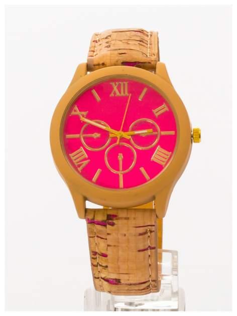 Ekologiczny zegarek damski na skórzanym pasku